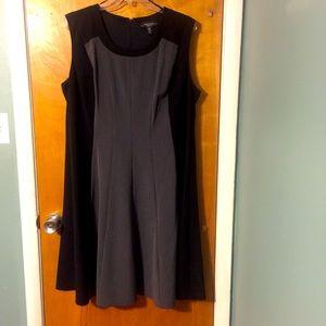 R & M Richards gray&black sheath dress